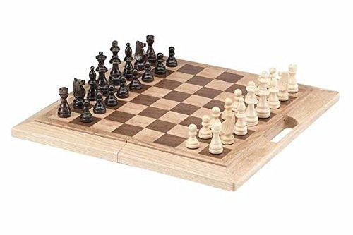 CHH importen 40,6 cm Eiche Faltbares Schach-Set