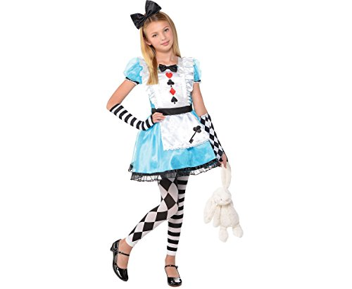 Amscan Alice Halloween Costume for Girls, Medium, with Included Accessories -
