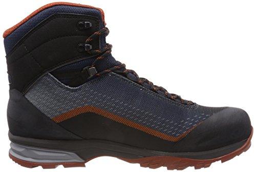 Lowa Irox GTX Mid, Stivali da Escursionismo Alti Uomo Blu (Navy/Rost 6975)