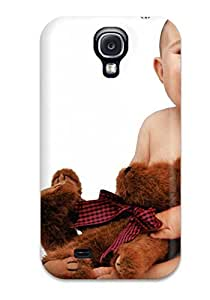 New Arrival Cute Baby With Teddy UYyTczm3156lFBNW Case Cover/ S4 Galaxy Case