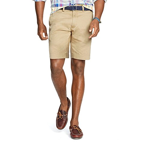 Polo Ralph Lauren Men's Shorts Flat Front Classic Khaki Chino (Ralph Lauren Khaki Chino)