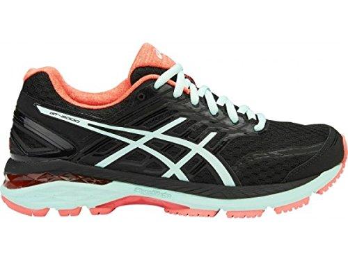 ASICS Women's GT-2000 5 Running Shoe, Black/Bay/Diva Pink, 9 M US