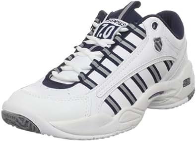 K-Swiss Men's Ultrascendor Tennis Shoe,White/Navy/Silver,15 M US