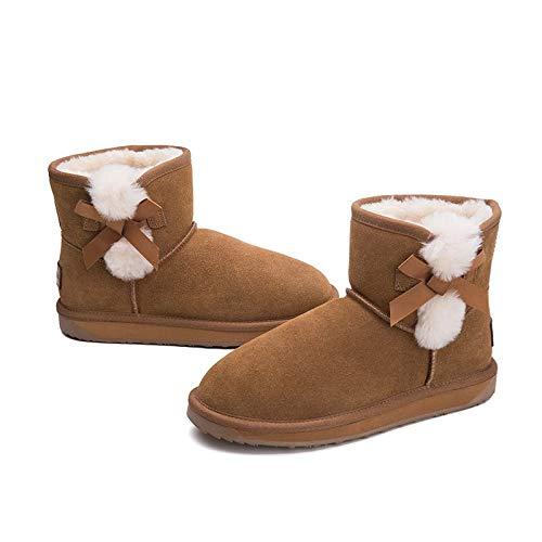BYUYAN Stiefel Schneeschuhe weiblich Kurze Herbst und Winter Plus Baumwolle Stiefel Student trat Feilbieten von Baumwolle Schuhe