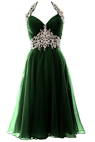 Gown V Formal Dunkelgrun Neck Homecoming Women Wedding MACloth Short Halter Dress Prom nxYapBCw