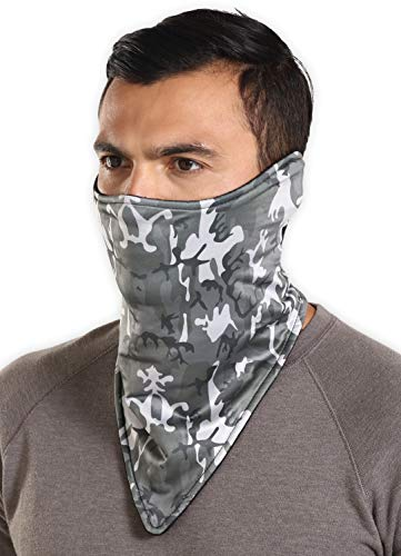Tough Headwear Neoprene Ski Mask - Tactical Winter Face Mask - Perfect for Skiing, Snowboarding & Motorcycling (Gray Camo)