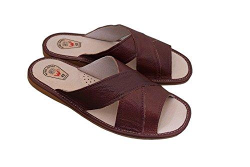 Flip 123 Natleat EU Flop Natural Cognac Sandals 48 14 Leather 40 Slippers Size UK6 Slippers Mens Y6fCwx46q
