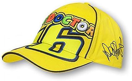 Gorra Valentino Rossi the Doctor VR46 amarillo oficial: Amazon.es ...