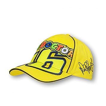 Gorra Valentino Rossi the Doctor VR46 amarillo oficial  Amazon.es  Coche y  moto fdfa64121cd