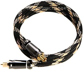 1.5FT Toslink Digital Optical Fiber Audio Cable (Male to Mal