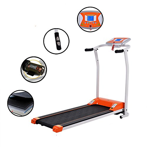 CANHOT Folding Treadmill Mini Electric Running Machine Fitness Training Equipment with Heart Rate System for Home Office (US STOCK)