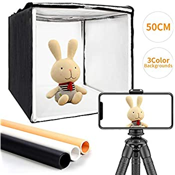 Pyle 20/'/' x 20/'/' inch Portable Tabletop Photography Studio Photo Lighting Kit Red Background Cloth Sheet Blue Set Includes Light Box // Tent Black Camera Stand /& White PSTDKT6 2 Lamp Lights