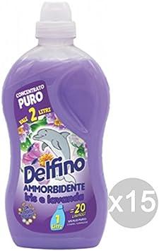 Juego 15 delfín Suavizante iris-lavanda LT 1 20 lavados Detergente ...