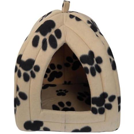 Nuevo Perro Gato cálido forro polar invierno cama Igloo casa suave lujo cesta para mascotas cachorro zizzi: Amazon.es: Productos para mascotas