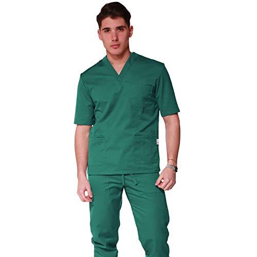 UNISEX Uniforme divisa da infermiere Verde 100/% COTONE ospedaliero mezze maniche clinica S M L XL