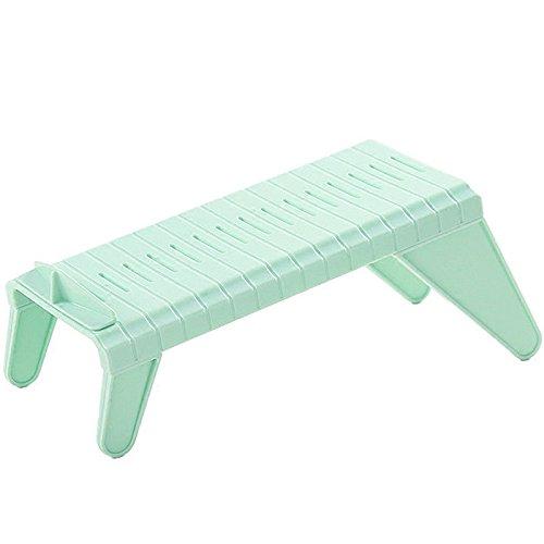 Pinzhi Creative Plastikschuhe Rack Organizer Platzsparend Lagerung Einstellbar Langlebig(Grün)