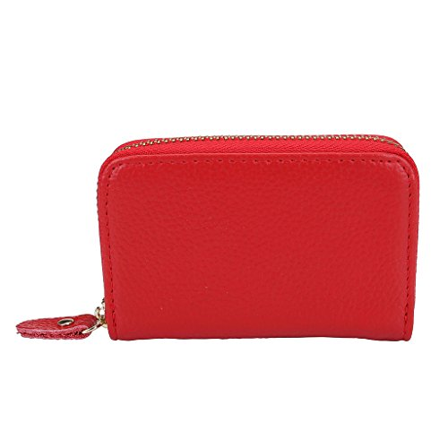 Red Metal and PU Leather Credit Card/Business Card Holder - 4
