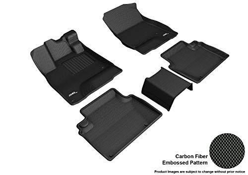 3D MAXpider L1HD10001509 Custom Fit All-Weather Floor Mats - Kagu Rubber Black Complete Set for Honda Clarity Plug-in Hybrid Models
