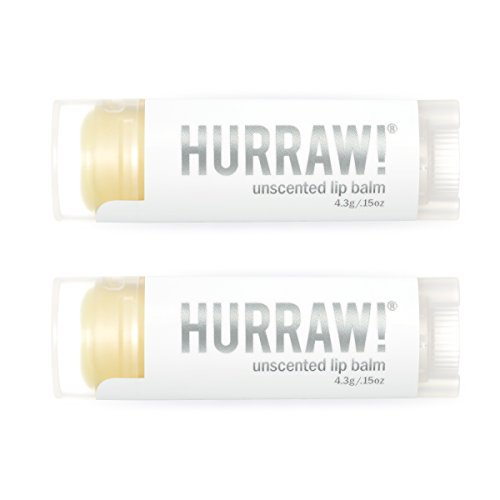 Hurraw Unscented Lip Balm, 2 Pack