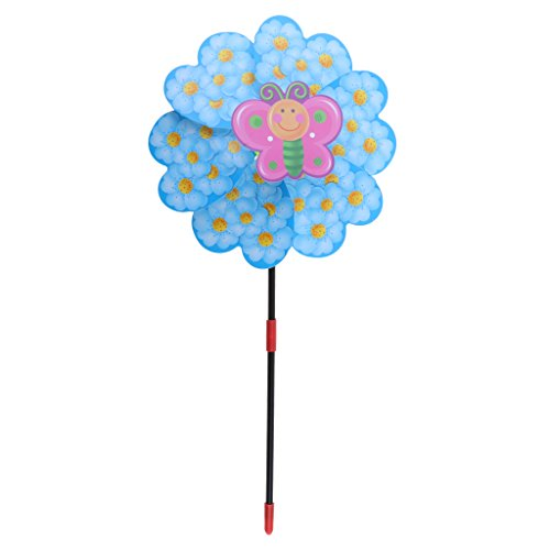 (Flameer Large Animal Windmill Wind Mill Whirligig Yard Garden Decoration Kids Toy - Blue)