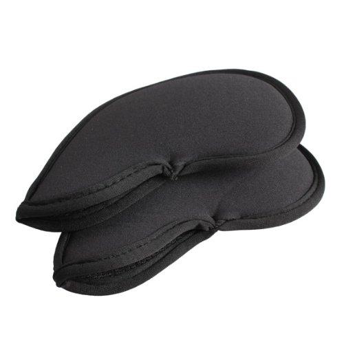 Vktech 10pcs Golf Head Cover Club Iron Putter Head Protector Set Neoprene Black