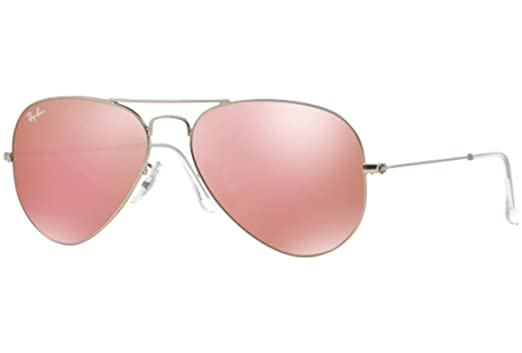 RAY-BAN BROWN MIRROR PINK AVIATORS RB 3025 019/Z2 55mm +SD Glasses