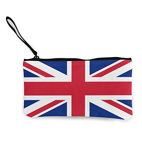 British Flag Wallet Coin Purse Canvas Zipper Make Up Pouch Wallet Travel
