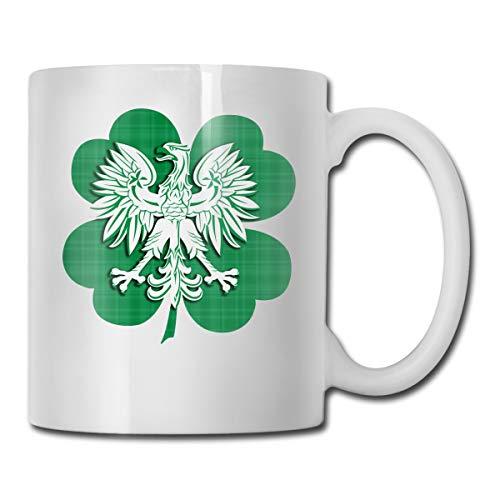 CLLXMUG Irish Polish Heritage Custom Coffee Mugs / 11oz Ceramic Tea Cup - Novelty Gift
