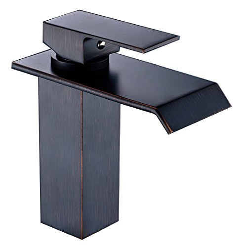 Yodel Single Handle Waterfall Bathroom Vanity Sink Faucet (Oil Rubbed Bronze) by Yodel faucet