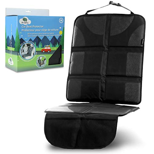 Leo&Ella Car Seat Protector with Thick Padding & Rear Facing Ipad Holder - Premium XL Size Auto Cover, Waterproof 600D Fabric, PVC Leather with 2 Large Front Pockets - Best - Facing Holder