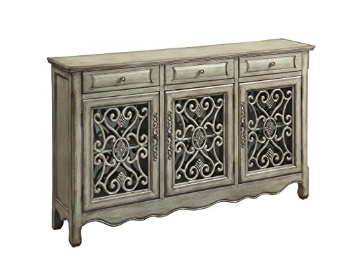 3-Door Accent Cabinet Antique Green (Console Cabinet Asian)
