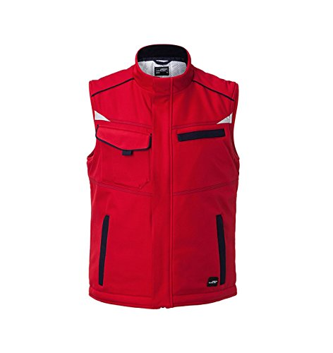 navy Red Fonctionnel Softshell Avec Gilet 2store24 Chaude Doublure Yxw6qv0YCf