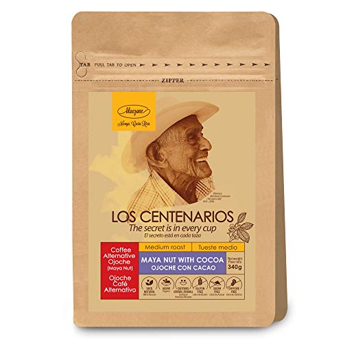 Blue Zone - Gluten-Free - Caffeine-Free - Non GMO - Vegan - Premium Medium Roast - 100% Healthy Natural Blue Zones - Coffee Alternative - Maya Nut - 12 oz (Best Non Gmo Foods)