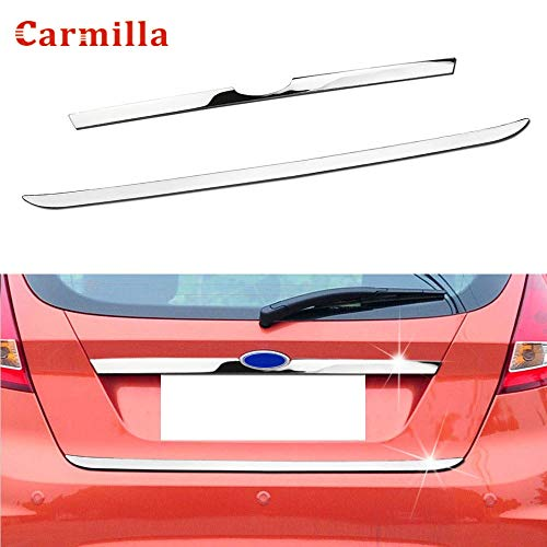 BARRY DAVID - Rear Door Handle Trunk Cover Tailgate Trim Sticker for Ford Fiesta 2009-2017 Hatchback Chrome Molding Accent Styling Strip