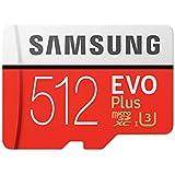 SAMSUNG microSDXC 512GB Class10 U3 4K対応 R:100MB/s W:90MB/s UHS-I EVO Plus MB-MC512GA サムスン 海外パッケージ品