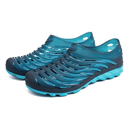 Color Dimensione shoes Sandali acqua 10MUS da 45 alla taglia Hollow EU Outdoor Scarpe Walking Zoccoli Blu Donna Scarpe fino uomo Vamp uomo da e Blu Jiuyue RwdBqfxB