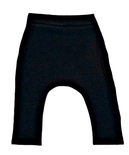 Easy Fit Solid Color Baby Pants - Lots of Colors and Sizes! (Newborn 0-3 Months to 12 Pounds, Black)