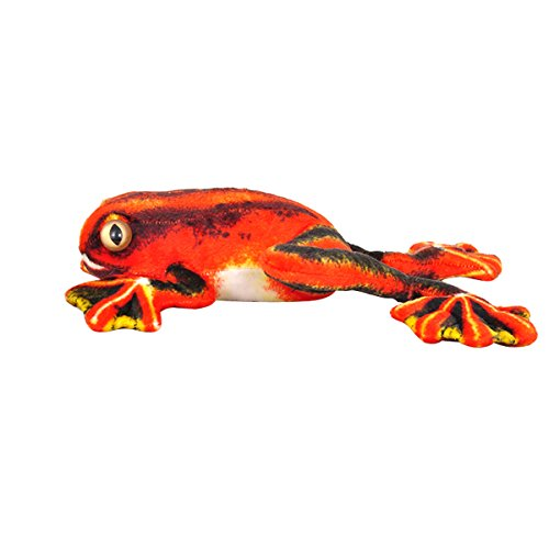 Orange Tree Frog - Cuddly Tree Frogs Soft Stuffed Animals Toys Doll, Emulation Tree Frogs Plushie Toys and Best Gifts for Baby Toys (Orange, 11