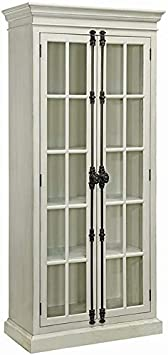 Pemberly Row 2-Door Wall Cabinet in Mahogany