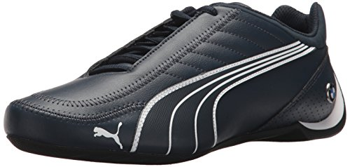PUMA Men's BMW MS Future Kart Cat 2 Low Sneaker, Team Blue White Black, 8.5 M US