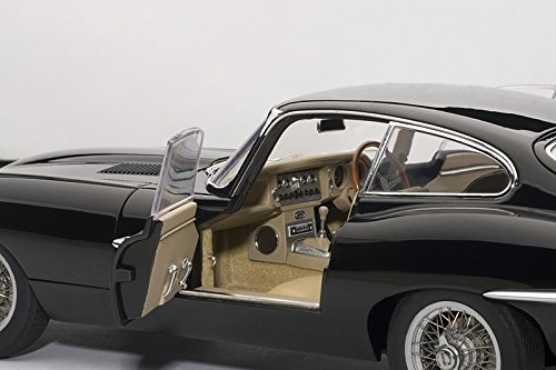 JAGUAR E-TYPE COUPE SERIES I 3.8 in BLACK Diecast Model Car in 1:18 Scale by AUTOart