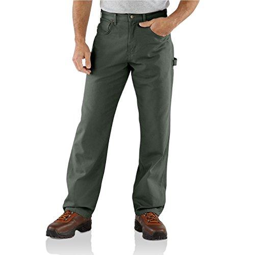 Carhartt Men's Loose Fit Canvas Carpenter Five Pocket B159,Darkmoss,44 x 32 (Carhartt Canvas Pants compare prices)