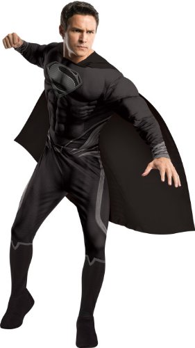 Rubie's Dc Heroes and Villains Collection Muscle Chest Black Uniform Superman Costume