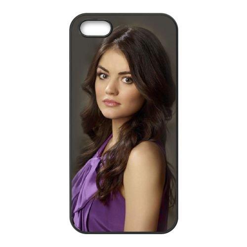 Lucy Hale 01 coque iPhone 5 5S cellulaire cas coque de téléphone cas téléphone cellulaire noir couvercle EOKXLLNCD25652