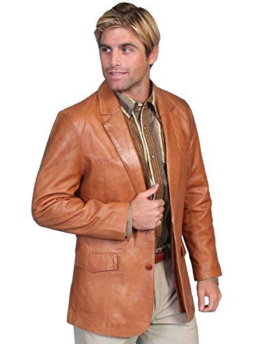 Scully Men's Lamb Leather Blazer Regular - 501-189