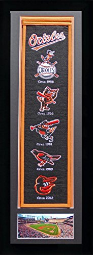 MLB Baltimore Orioles Legends Never Die Team Heritage Banner with Photo, Team Colors, 15