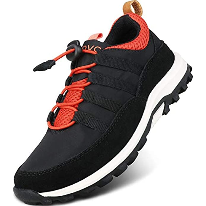 UOVO Boys Shoes Boys Sneakers Boys Tennis Running Hiking Shoes Kids Athletic Outdoor Sneakers Slip Resistant