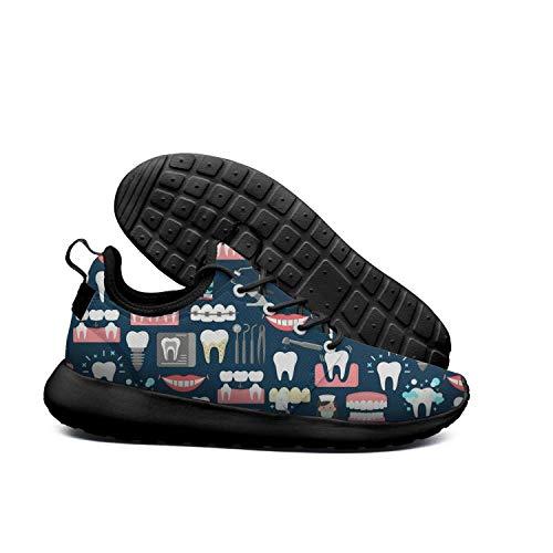 Running Care AKDJDS Fashion Dental Sneaker Shoes Womens Shoe Pattern Tools Colour Teeth Dental wTffZqA