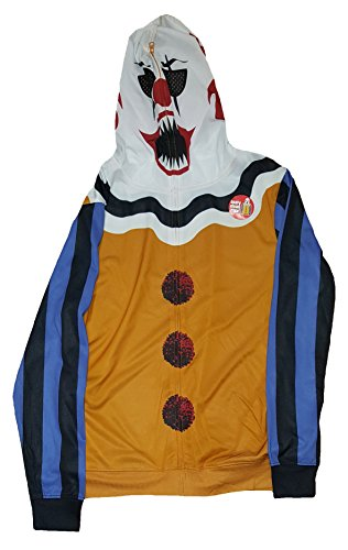 Scary Clown Clothes (Scary Clown Costume Graphic Zipper Hoodie - 2XL)