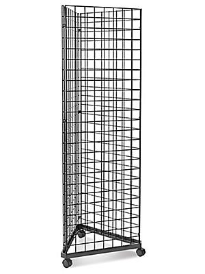 Only Garment Racks #1945B(1) + #1900B(3) + #1904B(9) Black Triangle Grid Tower with Casters